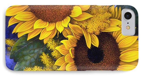 Sunflowers IPhone Case by Mia Tavonatti
