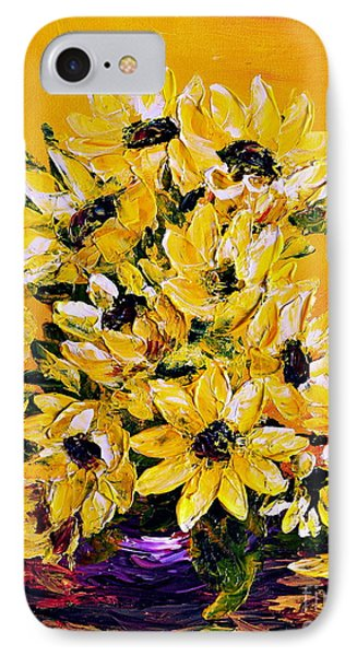 IPhone Case featuring the painting Sunflowers  No.3 by Teresa Wegrzyn