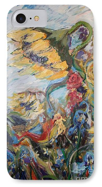 Sunflowers On A Windy Day IPhone Case by Avonelle Kelsey