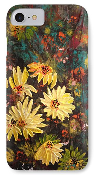 IPhone Case featuring the painting Sunflowers by Sima Amid Wewetzer