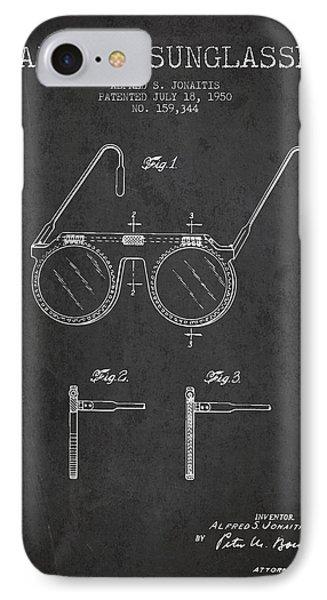 Sunglasses Patent From 1950 - Dark IPhone Case