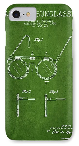 Sunglasses Patent From 1950 - Green IPhone Case