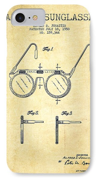 Sunglasses Patent From 1950 - Vintage IPhone Case