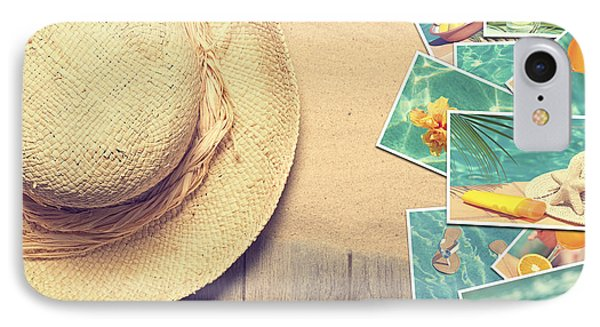 Sunhat And Postcards Phone Case by Amanda Elwell
