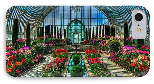 Sunken Garden Marjorie Mc Neely Conservatory IPhone Case by Amanda Stadther