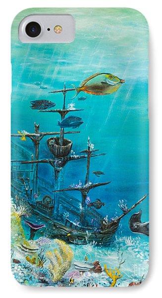 Sunken Ship Habitat Phone Case by John Garland  Tyson