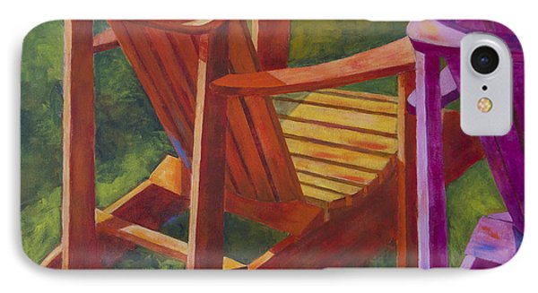 Sunlight On Adirondack Chairs  IPhone Case by Arthur Witulski