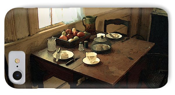 Sunlight On Dining Table Phone Case by RC deWinter