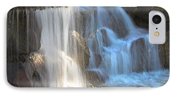 Sunlight On The Falls IPhone Case by Deb Halloran