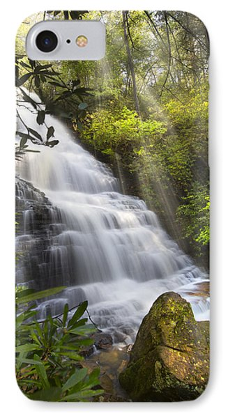 Sunlight On The Falls Phone Case by Debra and Dave Vanderlaan