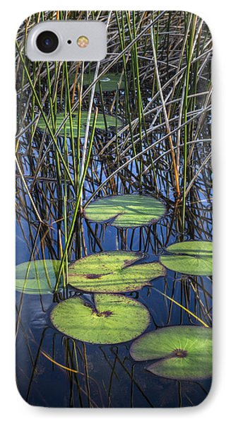 Sunlight On The Lilypads Phone Case by Debra and Dave Vanderlaan