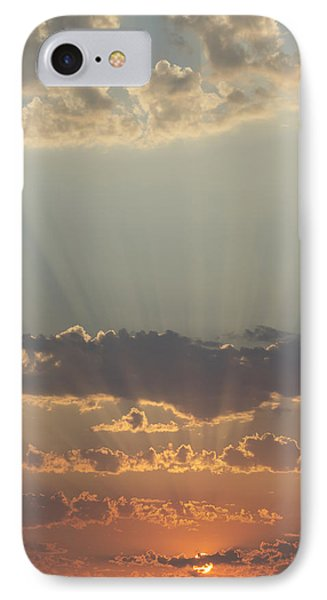 Sunlight Shining Through Clouds And Phone Case by Keith Levit