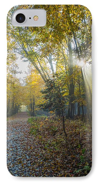 Sunlight Streaming Through The Trees Phone Case by Jacques Laurent