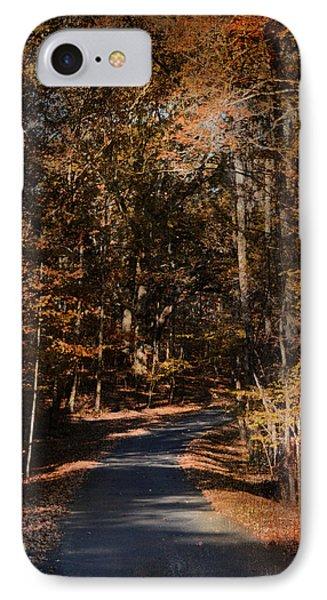 Sunlit Autumn Path IPhone Case