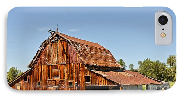 IPhone Case featuring the photograph Sunlit Barn by Sue Smith