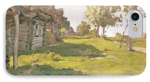 Sunlit Day  A Small Village Phone Case by Isaak Ilyich Levitan