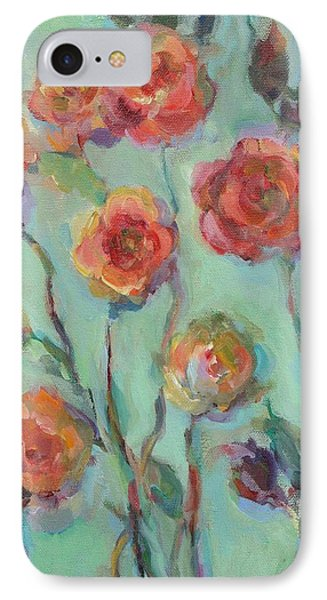 IPhone Case featuring the painting Sunlit Garden by Mary Wolf