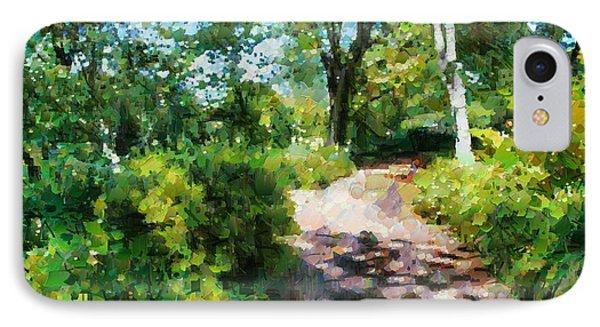 Sunlit Garden Path IPhone Case