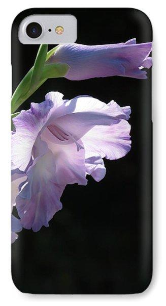 Sunlit Gladiolus In Violet   IPhone Case