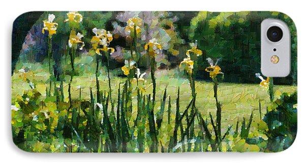 Sunlit Irises IPhone Case
