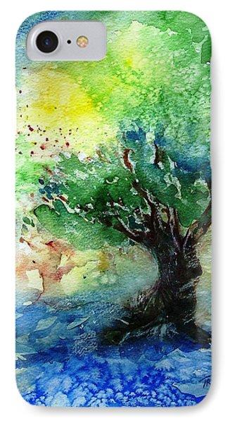 Sunlit Olive Tree In Skiathos  IPhone Case by Trudi Doyle