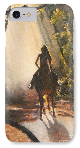 Sunlit Path Phone Case by Diana Besser