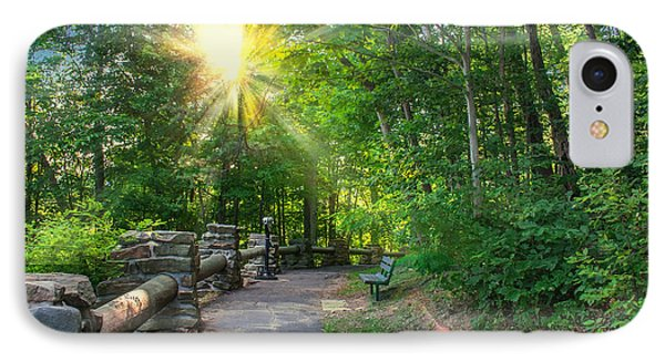 Sunlit Path IPhone Case by Mary Almond