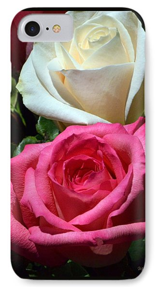Sunlit Roses IPhone Case by Marie Hicks