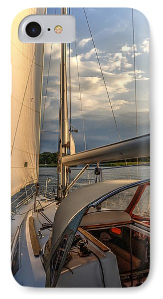 Sunny Afternoon Inland Sailing In Poland 2 IPhone Case by Julis Simo