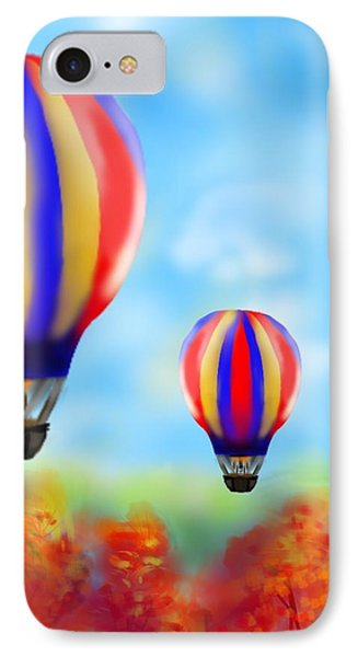 Sunny Balloon Ride Phone Case by Christine Fournier