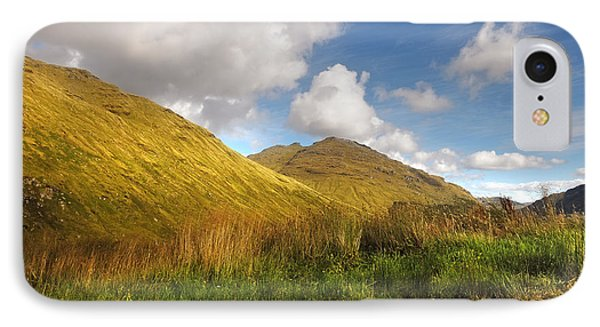 Sunny Day At Rest And Be Thankful. Scotland Phone Case by Jenny Rainbow