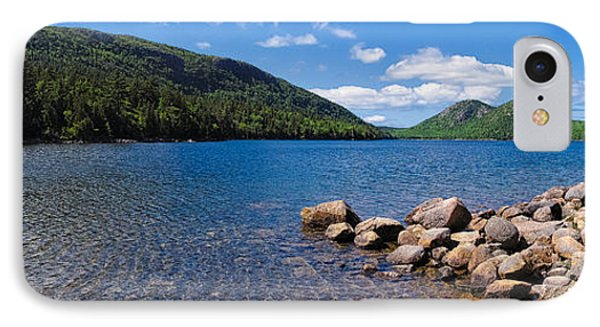 Sunny Day On Jordan Pond   IPhone Case by Lars Lentz