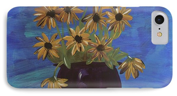 IPhone Case featuring the painting Sunny Day Sunflowers by Tatum Chestnut