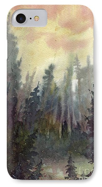 IPhone Case featuring the painting Sunny Forest by Tim Oliver