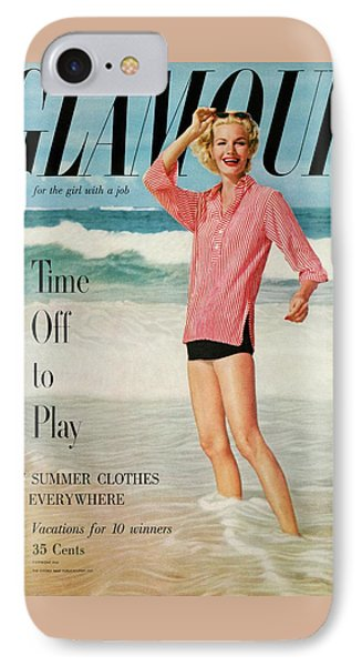 Sunny Harnett On The Cover Of Glamour IPhone Case by Leombruno-Bodi