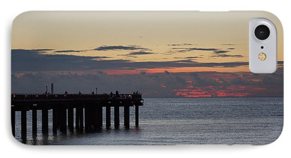 IPhone Case featuring the photograph Sunny Isles Fishing Pier Sunrise by Rafael Salazar