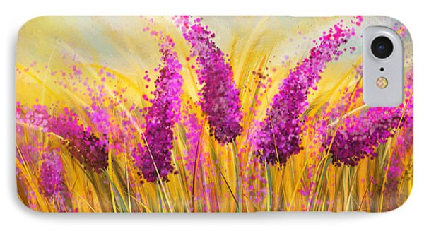 Sunny Lavender Field - Impressionist IPhone Case