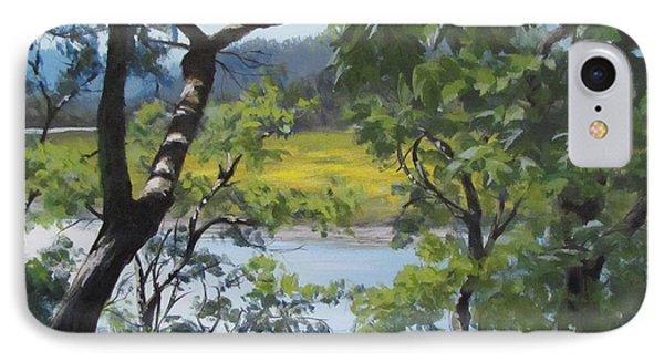Sunny River IPhone Case by Karen Ilari