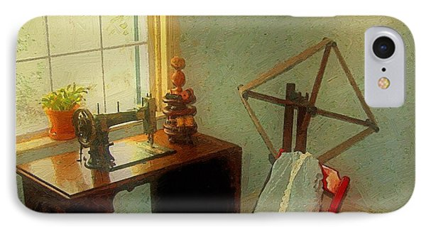Sunny Sewing Room Phone Case by RC deWinter