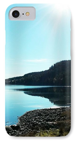 Sunny Sky By The Lake IPhone Case
