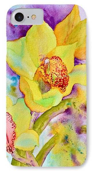 Sunny Splash Of Orchids Phone Case by Beverley Harper Tinsley