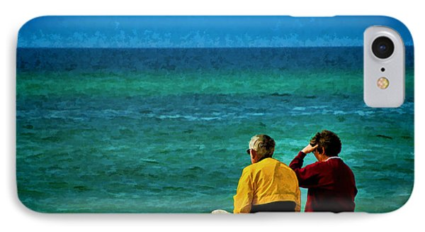Sunny Winter Day At Beach Phone Case by Dave Bosse