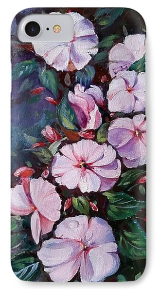 Sunpatiens Flowers IPhone Case by Rose Wang