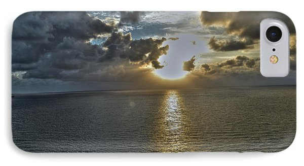 Sunrise Above Fort Lauderdale Beach Florida IPhone Case by Timothy Lowry