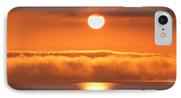 IPhone Case featuring the photograph Sunrise And Fog by E Faithe Lester