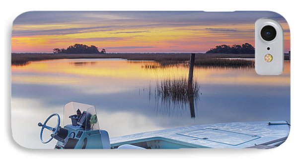 Sunrise Art Photograph - Hells Bay Marquesa Boat By Jo Ann Tomaselli IPhone Case