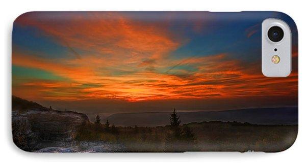 Sunrise At Bear Rocks In Dolly Sods Phone Case by Dan Friend