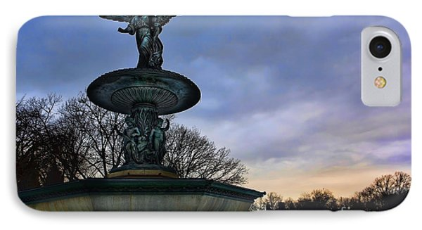 Sunrise At Bethesda - Angel Of The Waters IPhone Case by Lee Dos Santos