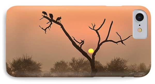 Sunrise At Bharatpur IPhone Case by Fotosas Photography