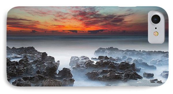 Sunrise At Blowing Rocks Preserve IPhone Case by Andres Leon